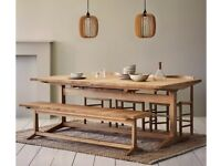 8-12 seater solid oak dining table for sale £200