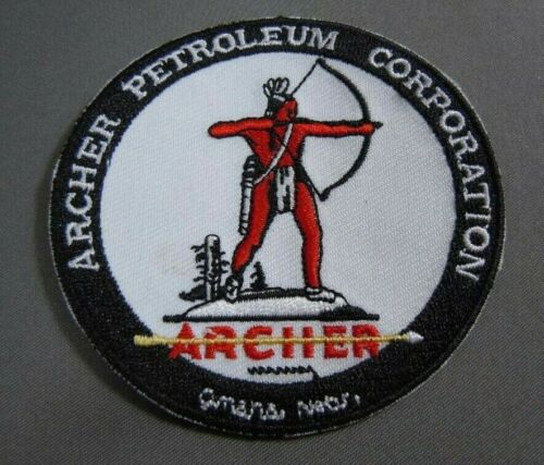 "ARCHER Petroleum Corp Embroidered Iron On Uniform-Jacket Patch 3"" NEW"