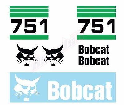 Bobcat 751 Skid Steer Set Vinyl Decal Sticker Aftermarket - Free Shipping