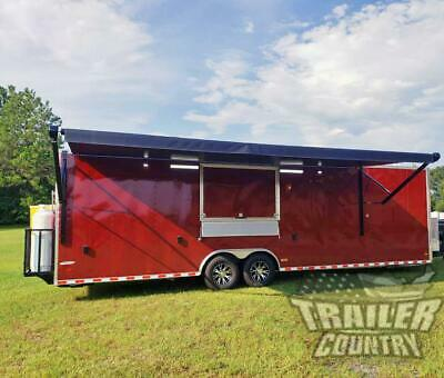 New 2020 8.5x30 Enclosed Mobile Concession Kitchen Food Bbq Vending Trailer