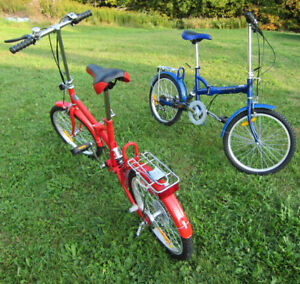 ~~ 2 x Folding Bikes / Bicycles ~ HMP ~ *Red & *Blue ~ B/ NEW ~~