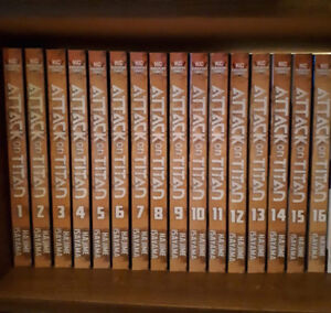 Attack on Titan Manga. Volume 1-16