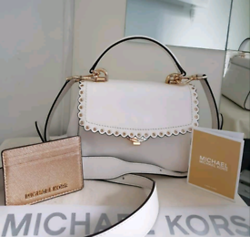 (Jo's post) Michael Kors white AVA CROSSBODY BAG & FREE PURSE