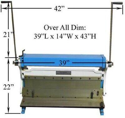 30 Inch Heavy Duty Sheet Metal Shear Brake Roll 3-in-1 Combo Max 20 Gauge