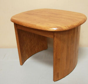 Excellent 3 Piece Oak Coffee & Side Table Set  SEE VIDEO