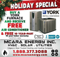 FREE YORK AC with a Purchase of High-Efficient YORK FURNACE!!