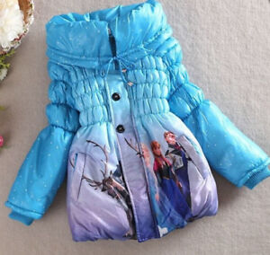 Elsa & Anna Girls size 6/7 winter coat