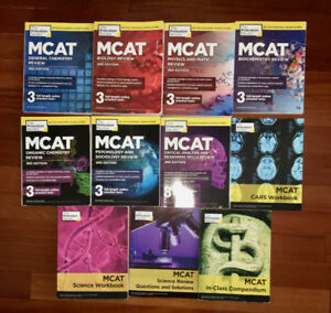 Princeton Review MCAT Complete Subject Review Set + 4 additional