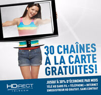 Promotion fibre optique // 30 chaines à la cartes incluses !