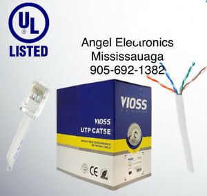CAT 5E CABLE 500 FEET AVAILABLE @ ANGEL ELECTRONICS MISSISSAUGA