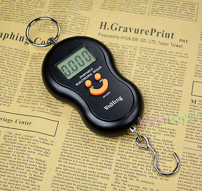 45Kg/10g Digital LCD Fish Luggage Postal Hanging Hook Electronic Weighing Scale