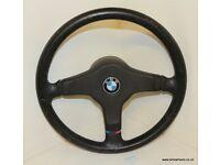 BMW E30 M-tech 1 325i Sport 385mm Leather Steering Wheel M3 E34 525i 535i M5 E32 735i 750i 320i 318i