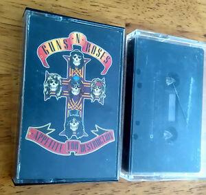 """2 Guns N Roses """"Appetite for Destruction"""" Cassettes"""