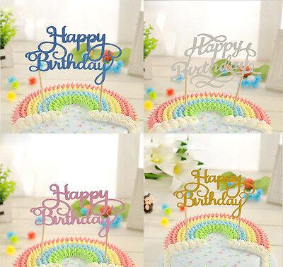 Fashion Multicolour New Cake Topper Happy Birthday Party Supplies Decoration (Happy Birthday Fashion)