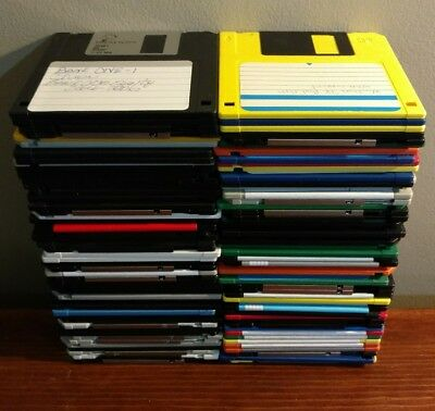 "LOT OF 20 USED / REUSABLE 1.44 MB 3.5"" FLOPPY FLOPPIE DISCS FREE SHIP!"