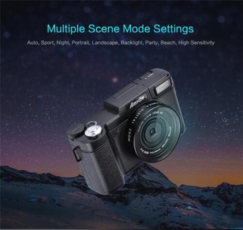 AMKOV AMK-R2 24MP 1080P HD Digital SLR DSLR Camera Wide-angl