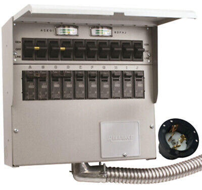 New Reliance R510a Protran2 50-amp 120240v 10-circuit Outdoor Transfer Switch