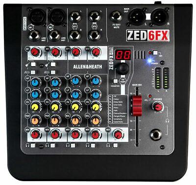 Allen & Heath ZED-6FX Compact 6 Input Mixer w/ Effects & 48V Phantom Power
