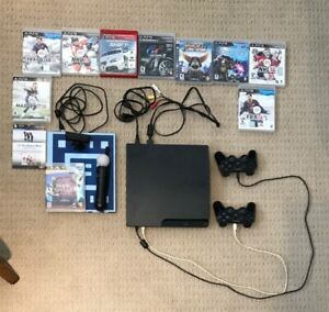 PlayStation 3 (PS3) console,  2 controllers + 8 games! $140
