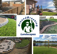 Groundbreaking Landscapes- Sprinklers, Patios, Curbing, etc!