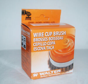 "NEW Walter wire cup brush 3"" x 5/8"" knot type"
