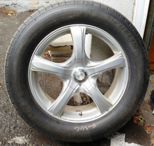 4 mags RTX pneus d'hiver 255-55-18 ( runflat )