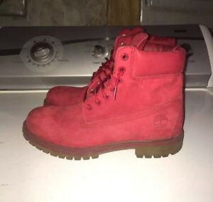"""Timberland 6"""" Classic Boot ( ALL RED ) - Mens Size 11"""