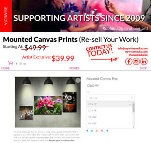 Mounted Canvas Prints and Giclées