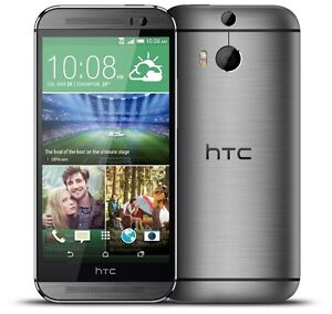"HTC ONE M8 UNLOCKED 32GB NO CONTRACT SMART PHONE FULL HD 5"" SCRN"