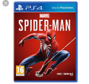SEALED COPY OF SPIDERMAN FOR PS4