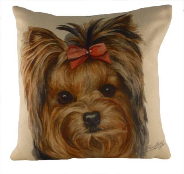 "17"" YORKIE Dog Cushion Evans Lichfield DP921 43cm Waggydogz"