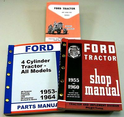 Lot Ford 641 651 661 Tractor Owner Operator Parts Service Repair Shop Manuals