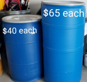JUMBO & LARGE clean plastic barrels perfect for shipping/storage