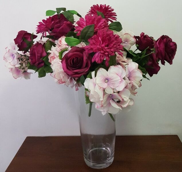 Clear Glass Vase- Tall