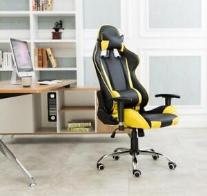 Used!!! yellow Office Gaming Chair Racing Seats Computer Chair 251327