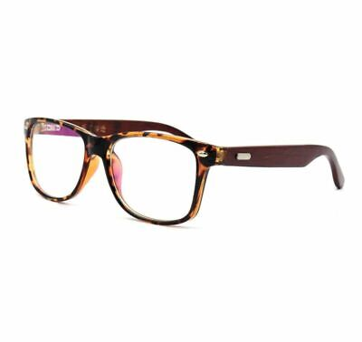 Amillet Wooden Oversized Eyeglass Frames Rx-able Spectacles Rimmed Mens (Oversized Spectacle Frames)