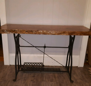 Wood Top Sewing Machine base Table/Esk