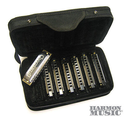 NEW! Hohner Bluesband Harmonica Set of 7 Harp Keys with Case Blues Band 1501/7 on Rummage