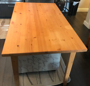 Solid yellow pine table (or desk)