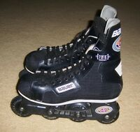 Bauer H200 off ice Roller Hockey Inline Skates ~ Mens Size 8 - 9