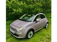2012 Fiat 500 LOUNGE PINK 1.2 GLASSROOF FDSH BT AC ALLOYS 30TAX RARE COLOUR Hatc