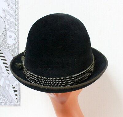 Chapeau velours noir traditionnel trachtenhut bavarois