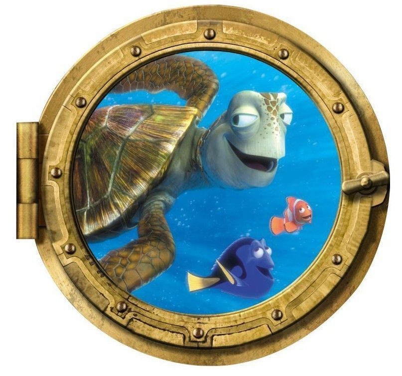Finding Nemo Submarine Window sea Turtle fish Wall Decals St