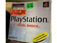 Playstation 1 dual shock comes with 2 hand controllers boxed