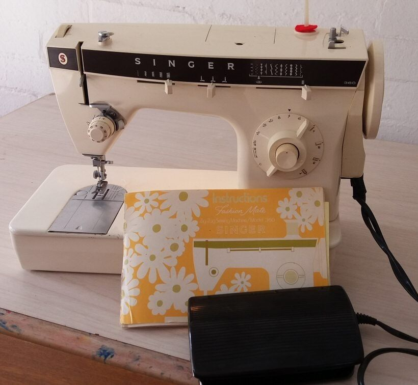 Singer 40 Portable Electric ZigZag Embroidery Freehand Sewing Gorgeous Singer 360 Sewing Machine