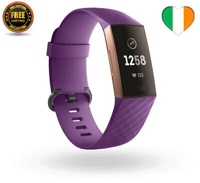 Strap for Fitbit Charge 3 4 Watch Replacement Luxury Silicone Band Purple Large