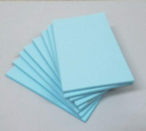 """8 Pads of 40 sheets 3 x 5"""" Pastel Blue Color Scratch / Note Pads"""