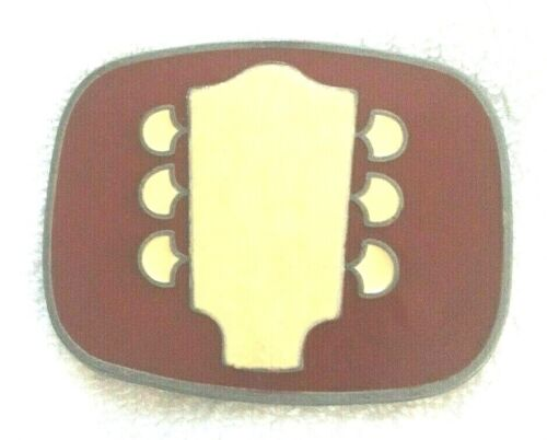 Vintage Mens Les Paul Fender Guitar Music  USA Belt Buckle