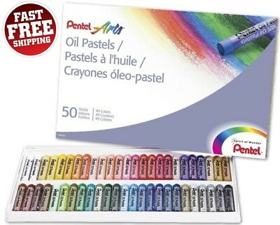 Pentel Oil Pastels Set 50 Crayons Sticks Colors Drawing Painting Art Artist - Oil Pastel Crayons