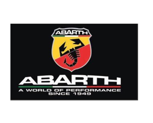 New 90x150cm Abarth Car Flag